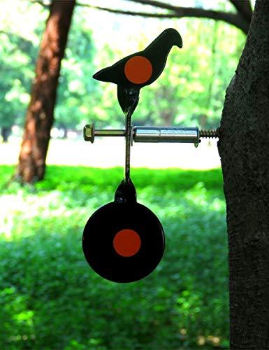 WINGS Spinning Airgun Target Screwed-type Steel Plinking Target Pigeon Pellet Target
