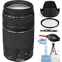 Canon EF 75-300mm f/4-5.6 III Lens Black BUNDLES (Starter Bundle) [International Version]