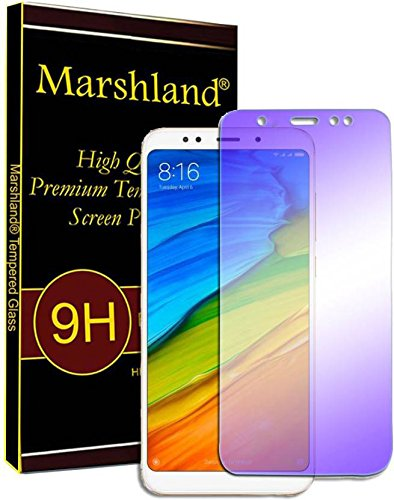 Marshland Redmi Note 5 Pro Tempered Glass, (Anti Blue) UV Protection, Anti  Scratch, 2 5D Round Edge, Case Friendly, Oil Coated, 0 33mm Thickness, ,
