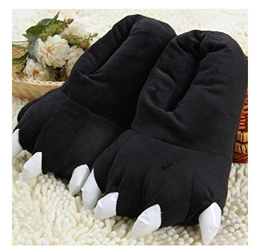 best gift fashion and slippers Lovely cozy Black indoor slippers warm claw dinosaur Bx0vXz