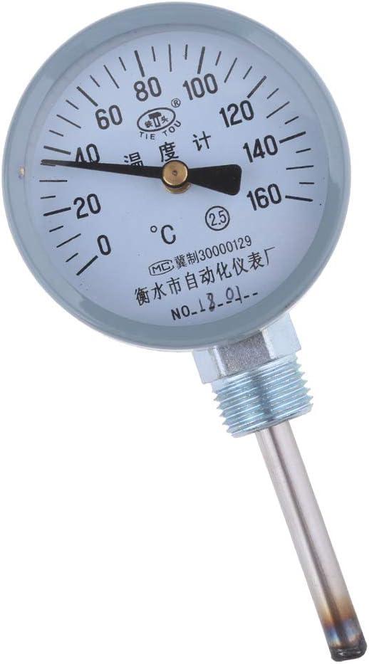 Temperatura Bimet/álica De La Tuber/ía De Marcaci/ón 0~160 ℃ F Fityle Medidor De Term/ómetro Industrial Preciso Acero Inoxidable