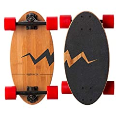 Our egg longboards skateboard are unique because they combine the portability of a wooden (no plastic) penny board 22 inch with the stability on the road of a lean longboard and dance longboard for beginners. Our skateboard wheel and bearings...