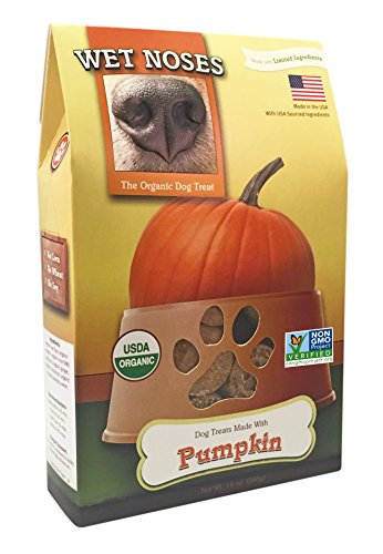 Wet Noses All Natural Dog Treats, Made in USA, 100% USDA Certified Organic, Non-GMO Project Verified, Pumpkin, 14 oz Box]()