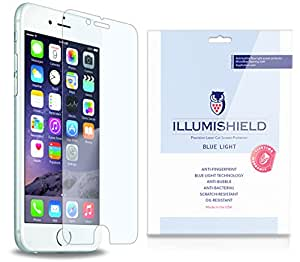"iLLumiShield - Apple iPhone 6 Plus Screen Protector 5.5"" + (HD) Blue Light UV Filter / Premium High Definition Clear Film / Reduces Eye Fatigue and Eye Strain - Anti- Fingerprint / Anti-Bubble / Anti-Bacterial Shield - Comes With Free LifeTime Replacement Warranty - [2-Pack] Retail Packaging"