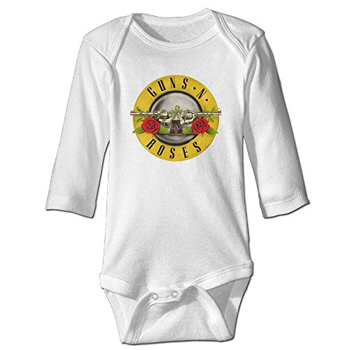 Makers Mark Costume (Raymond Guns N Rose Long Sleeve Romper Bodysuit Outfits White 12 Months)