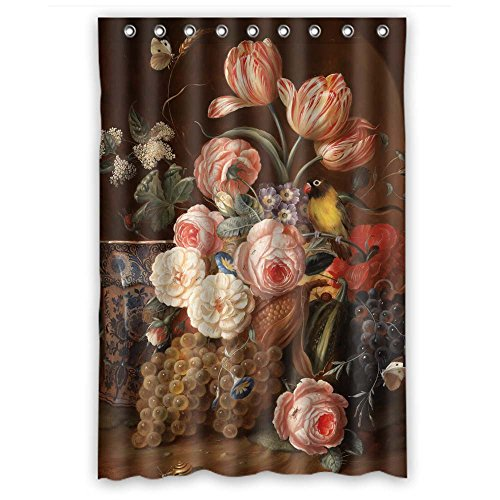 [Monadicase Width X Height / 48 X 72 Inches / W H 120 By 180 Cm Polyester Famous Classic Art Painting Flowers Blossoms Bathroom Curtains,fabric Is Fit For Kids,him,boys,father,valentine. Anti] (Famous Trios Costumes)