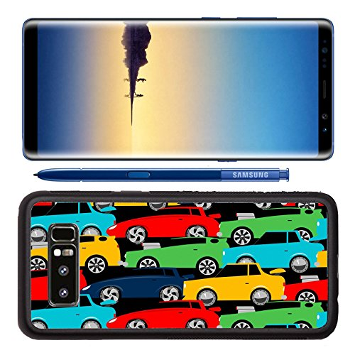 Luxlady Premium Samsung Galaxy Note8 Aluminum Backplate Bumper Snap Case IMAGE ID: 38619297 Street racing cars stacked in a seamless - Finance Kong Hong Street