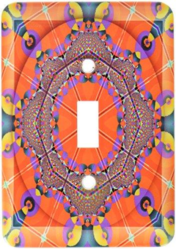 (3dRose lsp_26776_1 MANDALA meditation harmony InnerPeace red purple yellow blue gold zen joy chakra energy glowing Toggle Switch )