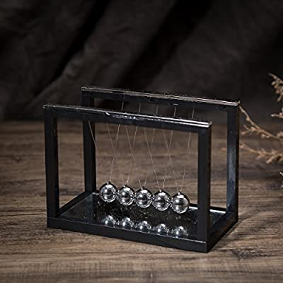 THY COLLECTIBLES Newtons Cradle Balance Balls with Mirror Desk Top Decoration Kinetic Motion Toy for Home and Office: Toys & Games
