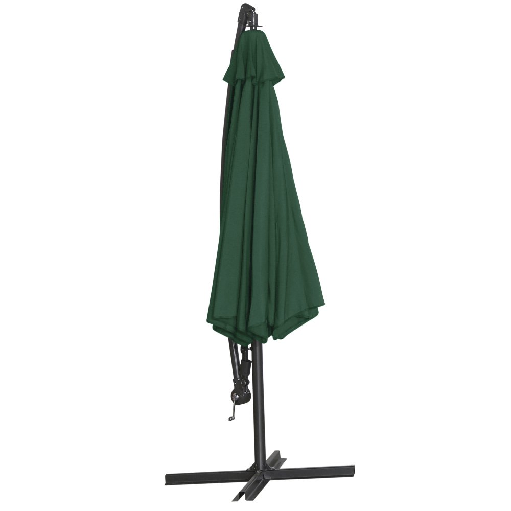 Siena Garden 336854 Ampelschirm Klassik Bezug grün Gestell grau Ø 300 cm