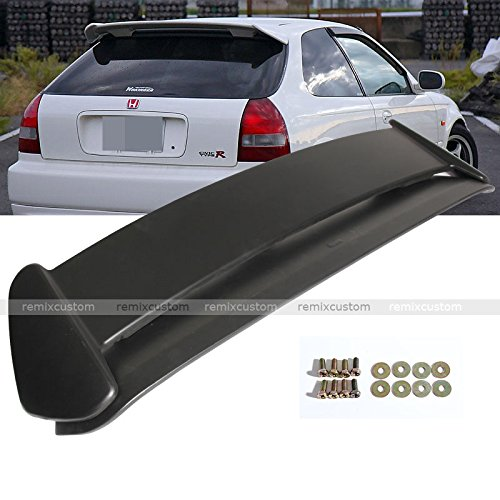 96 97 98 99 00 Honda Civic 3DR Hatchback Type R Style Rear Roof Spoiler Wing