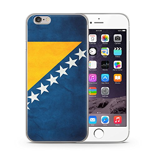 Bosnien Bosna Bosnia iPhone 6 & 6S SLIM Hardcase Hülle Cover Case Schutz Schale Flagge Flag