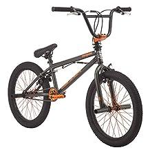 "Mongoose Mongoose Sion X Freestyle BMX Kids Bike, 20"" Wheel Size Age 6+, Army & Orange,"