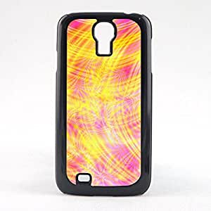 Case Fun Case Fun Yellow and Pink Swirls Style 2 Snap-on Hard Back Case Cover for Samsun Galaxy S4 Mini (I9190)