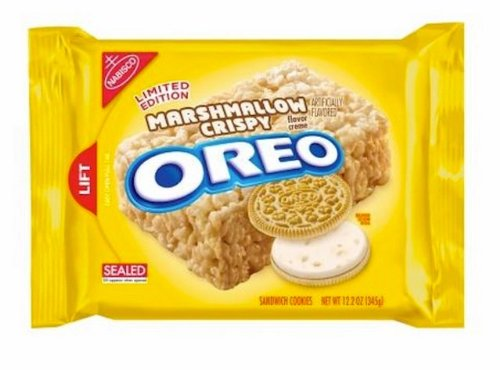 New!!!! Limited Edition Marshmallow Crispy Flavor Oreo 1 X 12.2oz Packet