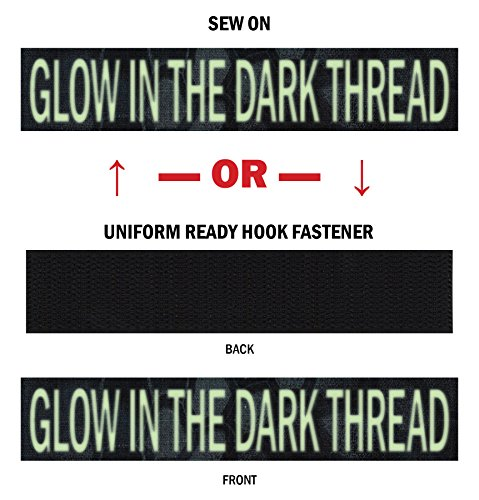 Custom Glow-in-The-Dark Uniform Name Tapes, Over 50 Fabrics Made in The U.S.A. Kryptek Typhon 6 inches Hook Fastener ()