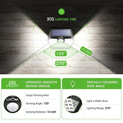 Litom-Solar-Lights-Outdoor-Wireless-20-LED-Motion-Sensor-Solar-Lights-with-Wide-Lighting-Area-IP65-Waterproof-Security-Lights-for-Front-Door-Back-Yard-Driveway-Garage