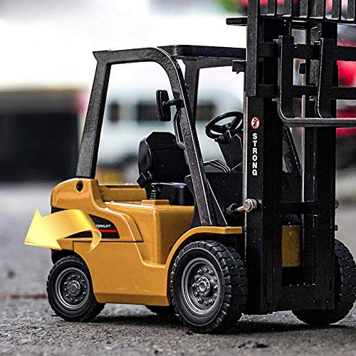 Gemini&Genius 1/50 Scale Diecast Forklift Truck Toys Engineering Vehicle Fork Truck Construction Alloy Warehouse Vehicle Models Toys for Kids