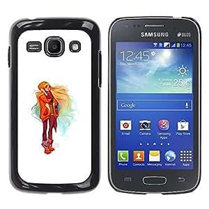 EJOY---Cubierta de la caja de protección la piel dura para el / Samsung Galaxy Ace 3 / --Chica rubia