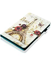 Ostop Compatible with iPad 10.2 2019 Tablet Case,Slim Stand Folio Cover PU Leather Flip Wallet Smart Case with Auto Sleep/Wake and Pencil Holder for iPad 10.2 2019,Eiffel Tower