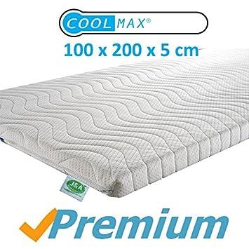 Prime Sobrecolchón de espuma de memoria con tejido Coolmax, Viscoelástica Sobrecolchón, con almohadas incluidas. ideal para la fibromialgia, ...