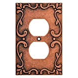 Franklin Brass W35071-CPS-C Classic Lace Single Duplex Wall Plate/Switch Plate/Cover, Sponged Copper