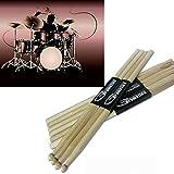American Classic 7A Wood Drum Sticks, Jacksuper Music Band Maple Wood Drumsticks