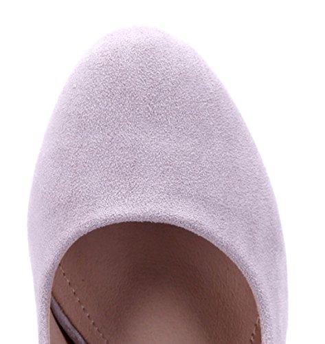 Schuhtempel24 Damen Schuhe Plateau Pumps Trichterabsatz 11 cm High Heels Lila