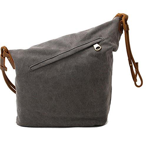 Crossbody Satchel Bags for Women Waxed Canvas Hobo Tote Handbags Unisex  Vintage Men Large Travel Messenger 01ed305b01