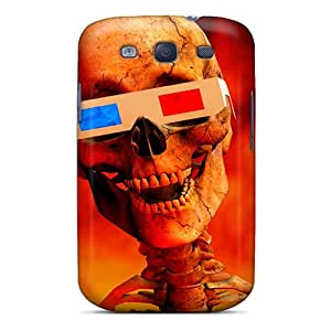 Galaxy Cover Case - 3d Skull Protective Case Compatibel With Galaxy S3