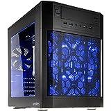 anidees AI-7BW ATX Dual Chamber Fenêtré Cube Boitier PC ,Noir ,avec led bleu ventilateur, contrôleur ventilateur, Gaming PC