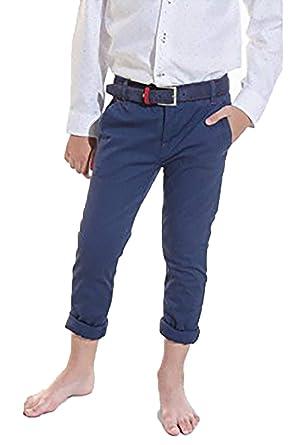 Spagnolo Pantalon Chino Basico Piping Gabardina Elastico 4778 (8)