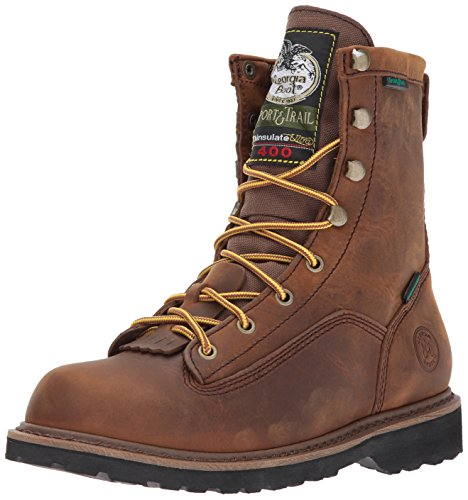 Georgia Boot Unisex-Kids G2048 Mid Calf Boot, Dark Brown, 5 M US Big Kid by Georgia Boot