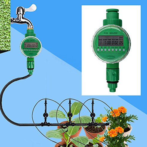 Lilys Gift Waterproof Garden Electronic Auto Irrigation Water Timer Sprinkler Controller