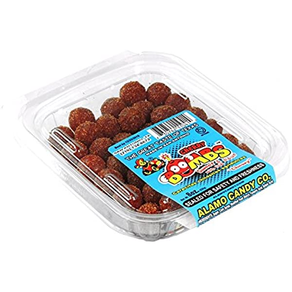 Amazon Com Alamo Candy Cherry Bombs Sweet Sour 1 Count Sugar Candy Ethnic Grocery Gourmet Food