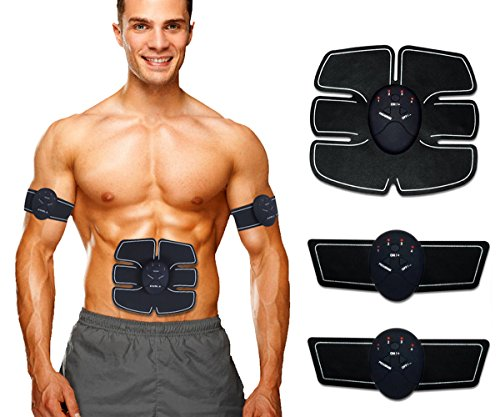 Cheap  ABS Stimulator EMS Wireless Portable Trainer the Body in Home/Office, Fitness Equipment..