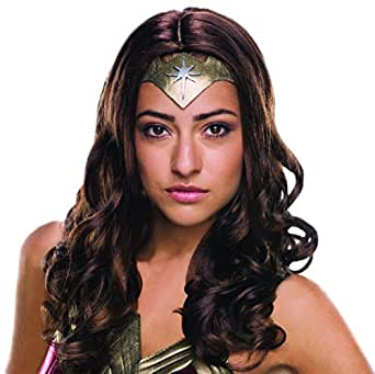 Secret Wishes Women's Batman v Superman: Dawn Of Justice Deluxe Wonder Woman Wig