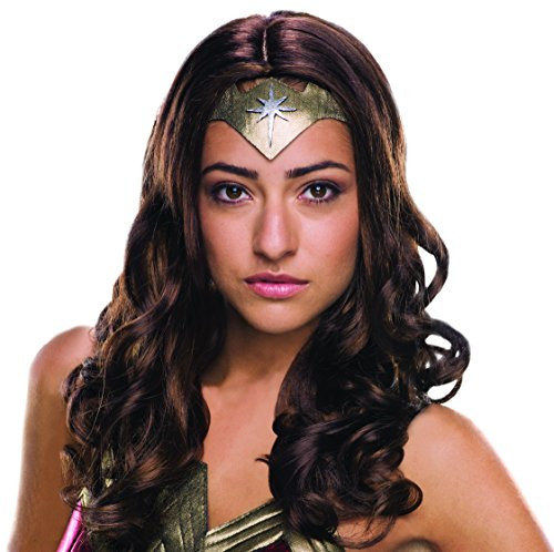 [Secret Wishes Women's Batman v Superman: Dawn of Justice Deluxe Wonder Woman Wig] (Best Womens Comic Con Costumes)