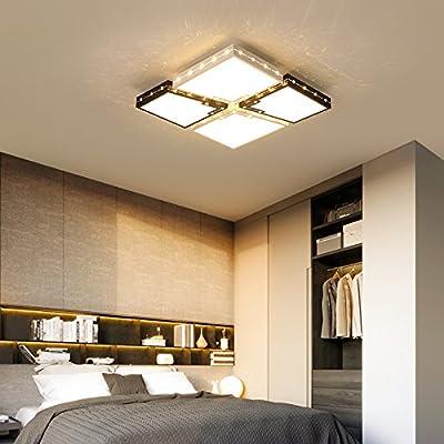 El salón LED lámpara de techo rectangular cuadrada lámparas ...
