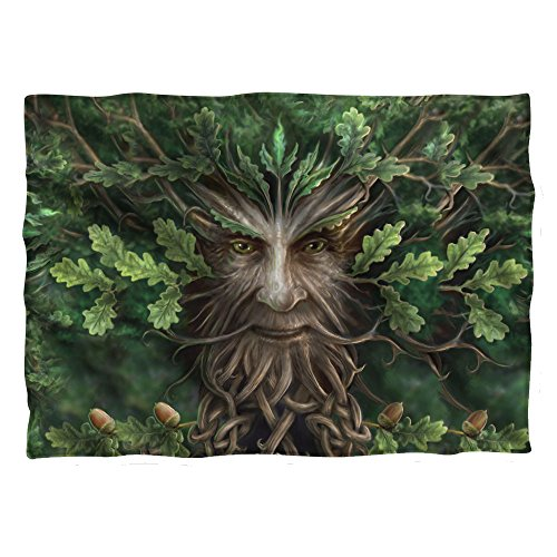 Trevco Anne Stokes Oak King Lord of the Forest Greenman Pillow Case (Oak King Size Poster Bed)