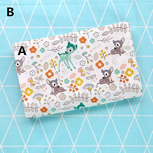(Fabric 160cm50cm Deer Cotton Sewing Baby Clothes Quilting Kids Bedding Quilt Sewing Tissue)