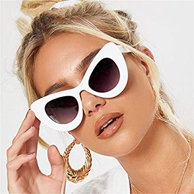 NEW Peak Cat Eye Sunglasses Women Designer 90S Vintage Thick White Frame Lady Sun Glasses Shades OM499B