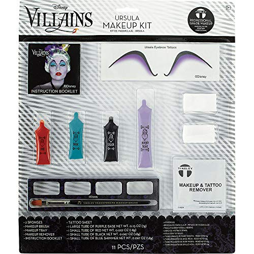 Suit Yourself The Little Mermaid Ursula Makeup Kit, Includes Eyebrow Tattoos, Makeup Tubes, Sponges, and More