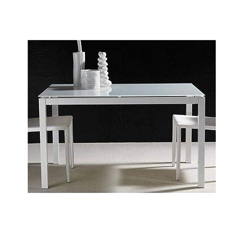 Mesa Comedor Extensible 130 x 80 cm Majestic en Cristal ...