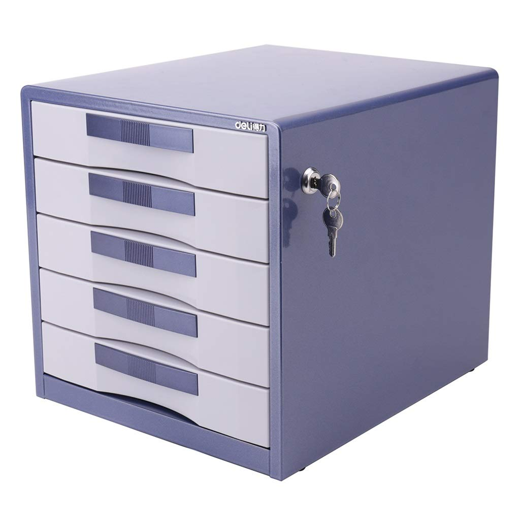 Etonnant Flat File Cabinets File Cabinet Five Layer Metal Desktop File Cabinet  Office Data Finishing Storage Box Drawer With Lock Large Capacity Metal  Material Lock ...