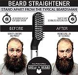 Beard Straightener Grooming Kit for Men, Beard