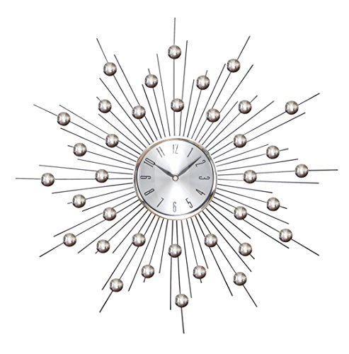 Deco 79 66965 Metal Wall Clock Wall Clock Featuring Star Bur