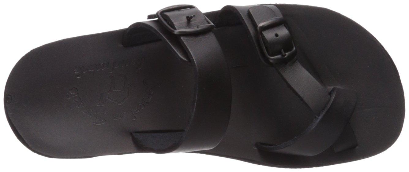 Jerusalem Sandals Women's Ruth Molded Footbed Slide Sandal B075KZ6ZDH 39 Medium EU (8-8.5 US)|Black