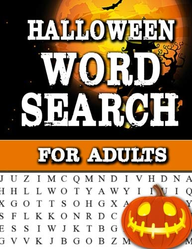 Halloween Word Search For Adults: Large Print Word Search Book For Adults Find Puzzles with Pictures And Answer Keys Spooky Halloween Activity Book