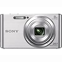 Sony DSC-W830 Cyber-shot 20.1MP Digital Camera (Silver) + 16GB Memory Card & Accessory Bundle from Sony